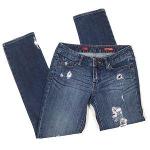 Express Stella Skinny Leg Distressed Jeans Size 4